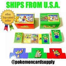 USA Pokemon Center Japan Mario Pikachu Trading Card Game Special Box LUIGI SET