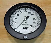"""NEW Ametek  132551 6"""" Dial, 1/2 Inch, 0-300 PSI Scale Range Pressure Gauge"""