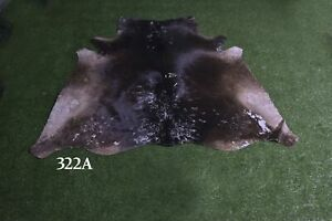 """New Cowhide Rugs Hair On COW HIDE Rugs Area Cow Skin Leather Rugs (57"""" x 53"""")"""