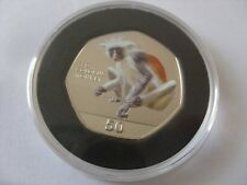 NEW 50 PENCE 2018 GIBRALTAR  RED COLOBUS MONKEY PRIMATE SERIES b.u..