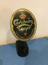 Vintage Carlsberg Lager Bar Advertising Topper Mancave Display, Pub, Pump