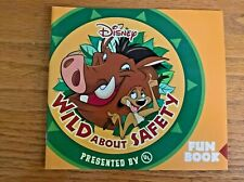 Disney's Wild about Safety Fun Book with Timon & Pumbaa (yellow cover)