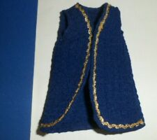 "Navy Blue Polyester Vest homemade 12"" Doll Clothes fit Clone Tammy Darci Jem"