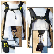 Double Dual Shoulder Belt Strap Harness for DSLR Camera Canon Nikon Sony