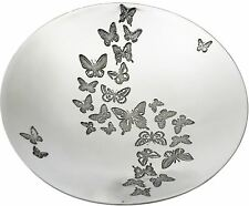 Large Pewter Bowl with Butterfly Pattern Design 205mm Diameter