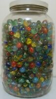 30 Random Vintage Classic Cats Eye Marbles Multicolor Red Blue Yellow Green