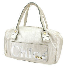 Chloe Handbag Eclipse Gold Woman unisex Authentic Used A1403