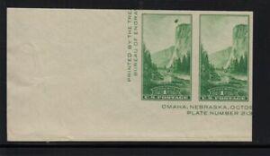 1935 Yosemite Sc 769 FARLEY horizontal pair inking ERROR scarce