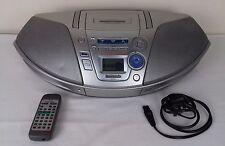 Panasonic RX-ES25 poder Sintonizador de cinta RADIO CD BOOMBOX Blaster + Control Remoto