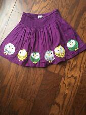 mini boden girls size 7-8 Plum Skirt With Owls