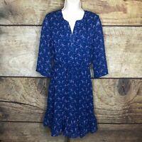 Modcloth Womens 4X Dress Quarter Sleeve Slit Neck Stars Constellations NEW