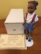"All God's Children, Miss Martha Holcombe doll: ""Skating Anika"" Coa, Item #2601"