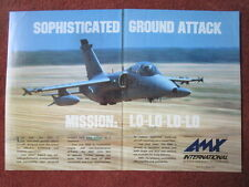 11/1992 PUB AMX INTERNATIONAL EMBRAER AERITALIA AERMACCHI COMBAT TRAINER AD