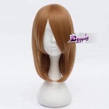 "K-ON Hirasawa Yui Brown 16"" Short  Anime Haloween Cosplay Wig Heat Resistant"