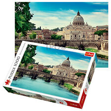 Trefl 1000 Piece Adult Large Holy Angel Bridge Rome Italy Jigsaw Puzzle NEW