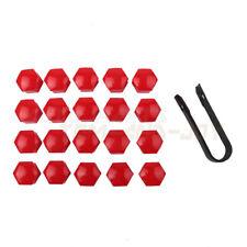 20pcs Red Color- Car Wheel Lug Nut Caps 17mm +Removal Tool For VW Audi Skoda