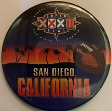 Vintage San Diego 1997 Super Bowl XXXII Pin Broncos & Packers NFL