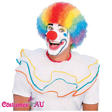Ladies Mens Multi Coloured Rainbow Circus Afro Clown Fancy Dress Costume Wigs