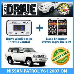 IDRIVE THROTTLE CONTROL for NISSAN PATROL Y61 2007 on + NANO ENERGIZER AIO