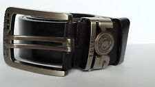 Men's Levis 501 Leather Black Belts