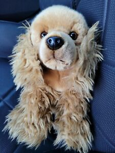 Cocker Spaniel dog tan Brown Stuffed Plush Toys R Us 2002 toysrus 10""