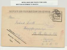 JAPAN WW1 PACIFIC PRISONER OF WAR CARD TO NAGOYA (IN GERMAN) 8.11.19 HS(SEE BELO