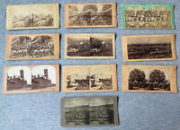 Various Vintage Stereoview Slides – Mixed Lot of 10 Originals — 1800s or 1900s