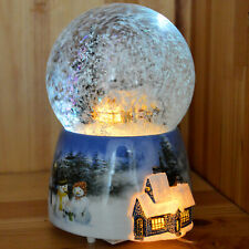 Musical Christmas Snow Globes Glitterdome Crystal Ball LED Globe Decoration Gift