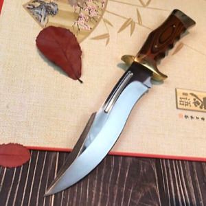 COLUMBIA Fixed Blade Knife Large Bowie Camping Hunting Survival Pocket Knife