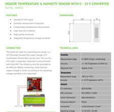 Loxone Temperature and Humidity Sensor