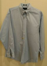 Hathaway Sport Liberty Derby Large 100% Combed Cotton Button Down Light Blue Ck