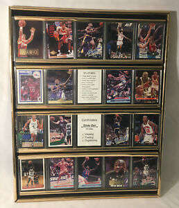 Gold Card Display Case Frame Sports Trading Cards Collectibles Organizer Decor