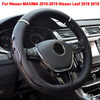 Car Steering Wheel Cover D Type For Nissan MAXIMA 2016-2018 2019 Leaf 2018 2019