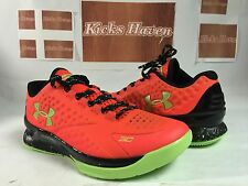 Under Armour UA Charge Foam Steph Curry 1 One LOW Bolt Orange MVP Size 8.5