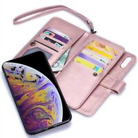 Magnetic Leather Wallet Card Case for Samsung Galaxy S9/Note 8/iPhone X/8