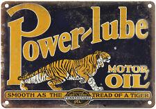 "Porcelain Look Power Lube Motor Oil Pennsylvania 10"" x 7"" Retro Look Metal Sign"