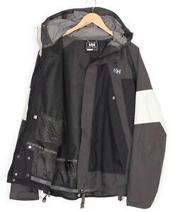 HELLY HANSEN HELLY TECH Hooded 10K Waterproof Ski Jacket Men Size L MJ2571