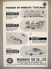 Masudaya Toy PRINT AD - 1967 ~ Gemini Rocket, Locomotive, Radicon Benz toys