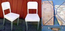 Vintage 1950s Mid Century GOODFORM Aluminum CHAIR White Vinyl SEAT Desk OFFICE