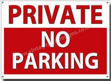 PRIVÉ NO PARKING MÉTAL PANCARTE. DIDACTIQUE SIGNE,PANNEAU MAISON,INFORMATION
