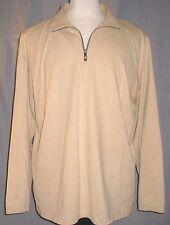 Tommy Bahama Adult Large Cotton Half Zip Beige Sweat Shirt (L Zipper Sweater)