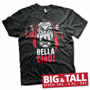Officially Licensed La Casa De Papel - Bella Ciao! BIG&TALL 3XL,4XL,5XL T-Shirt