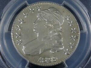 1829-P Capped Bust Half Dollar, PCGS Genuine Uncirculated Details, Silver Beauty