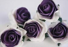 Scrappy Do Rose Blossom Embellishment Large Violet and White - Pack of 5