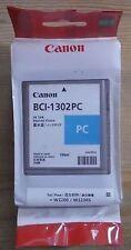 Genuine Canon BCI-1302PC Photo Cyan Cartouche d'encre 130 ml W2200 W2200S