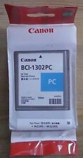 GENUINE AUTHENTIC CANON BCI-1302PC PHOTO CYAN INK CARTRIDGE 130ML W2200 W2200S