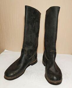 Soviet Russian Uniform Leather Boots Sapogi Tarpaulin size 38 NEW