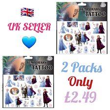 2x Packs FROZEN 2 Temporary Tattoos Kids Pocket Toys Body Art Transfers 🇬🇧 UK