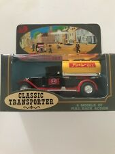 Vintage Classic Transporter Fuel Oil Collectible Die Cast Pullback Car
