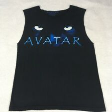 Avatar Motion Picture T-Shirt Black Graphic Tee Size Small Sleeveless